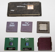 Several generations of Intel Processors.