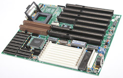 Intel 486 Motherboard from the 1990s.