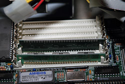 RAM Inside an Intel 486 Computer